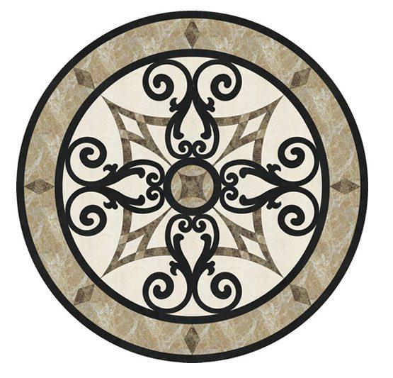 Đá hoa cương hoa văn medallions-and-inlays