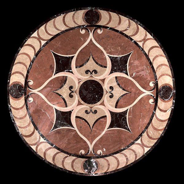 Đá hoa văn tròn medallions porcelain