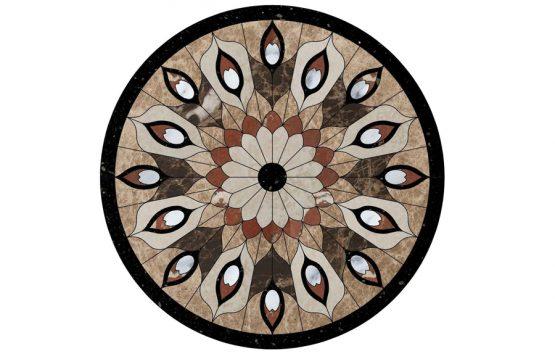 Đá hoa văn tròn peacock